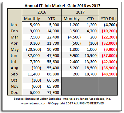 Annual IT Job Market growth