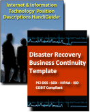 Disaster Recovery and  Job Descriptions